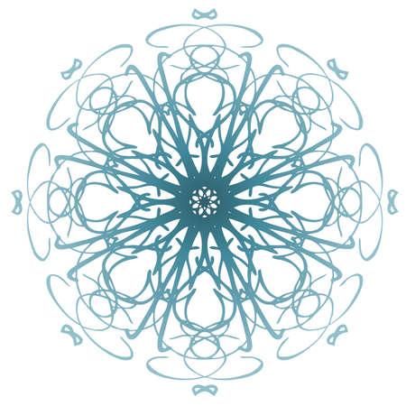 mandala: Light Blue Mandala Illustration