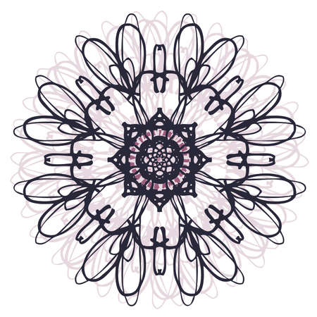 Shades of Purple Mandala Ilustrace