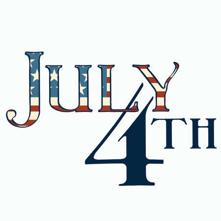 july 4th: July 4th title typography Illustration