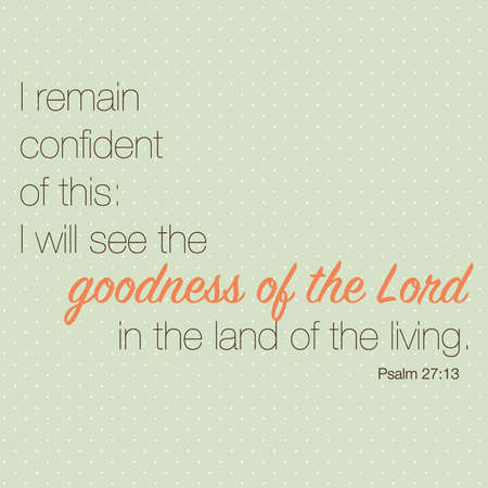 goodness: Psalm 27:13 Inspirational Typography