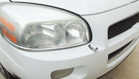 front bumper: white CarAuto headlight and front bumper