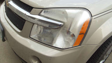 front bumper: Champange CarAuto headlight and front bumper Stock Photo
