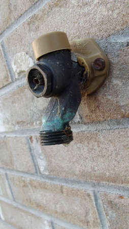 spigot: water spigot driping Stock Photo