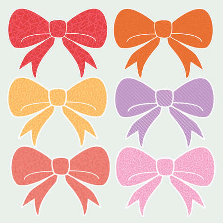 Warm Textured Cute Fashion Bows