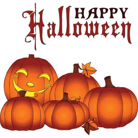 pumpkin patch: Glowing Happy Halloween Mini Pumpkin Patch