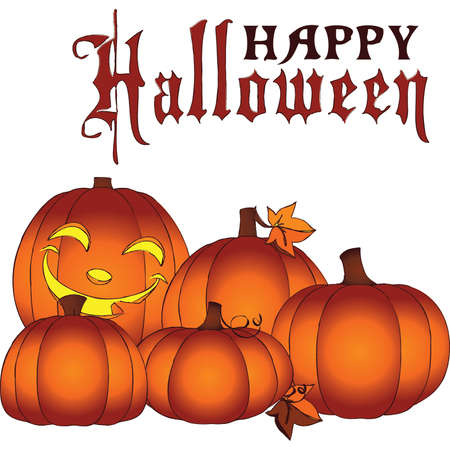 Glowing Happy Halloween Mini Pumpkin Patch