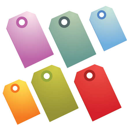 Brightly Colored Shopping and Sale Price Tags