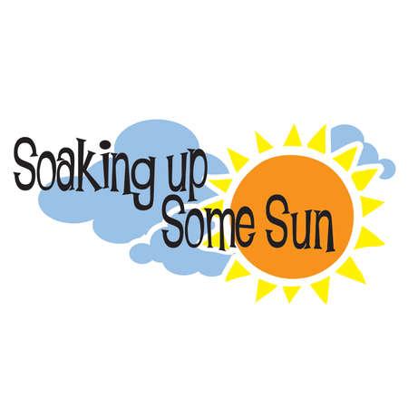 Genieten van de zon Zomer Typografie Titel Stock Illustratie