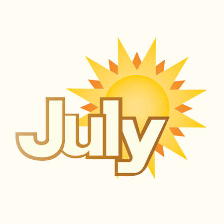 July Summer Sun Typography Title