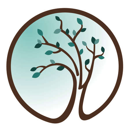 teal: Teal Tree Icon Illustration