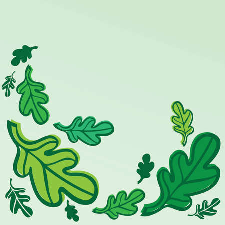 swirling: Swirling Green Spring Leaves Illustration