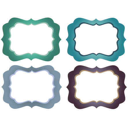 marcos decorativos: Green Blue and Purple Ornate  Decorative Frames