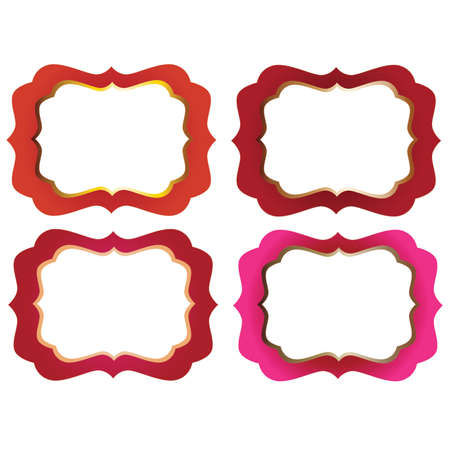 marcos decorativos: Red and PInk Ornate  Decorative Frames