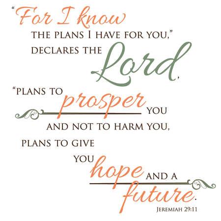 prosper: Inspirational Scripture Typography