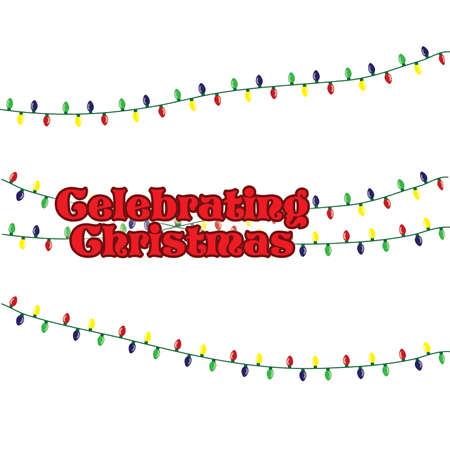 Celebrating Christmas Typography with christmas Light Strands
