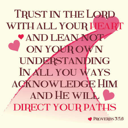 scripture: Proverbs 3:5-6 Inspirational Scripture Typography on Light Background