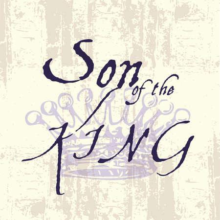 Zoon van de typografie Koning Inspirational Grunge