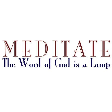 Mediteren over Gods Woord Inspirational Typografie