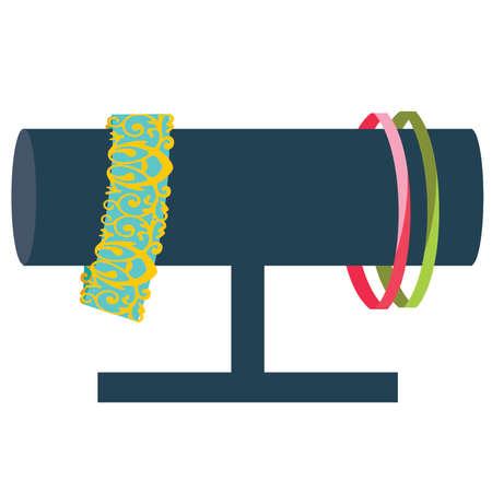 display: Bracelet Jewelry Display with Bracelets in Blue
