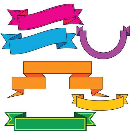 다채로운 만화 배너 요소