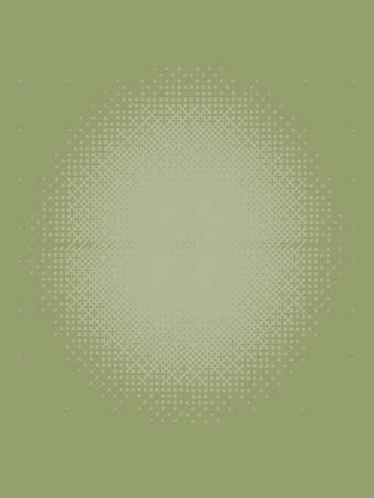 washed out: Washed out Olive green Halftone Patterned Texture Stock Photo