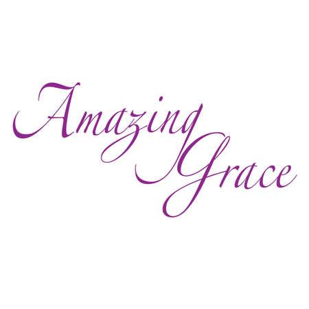 Amazing Grace Inspirational Scrittura Typography Vettoriali
