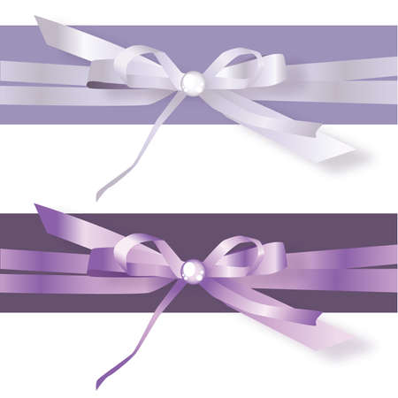 BLue Satin Ribbon Bows