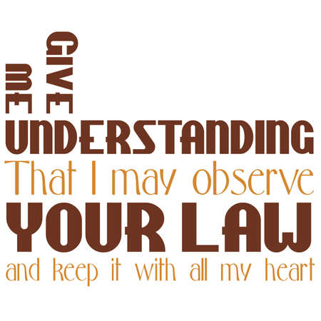 Give Me Understanding Inspirational Scripture typography Illustration
