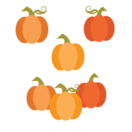 Simple Cute Fall Harvest Pumpkins Иллюстрация
