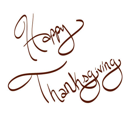 Happy Thanksgiving Hand Written Typography