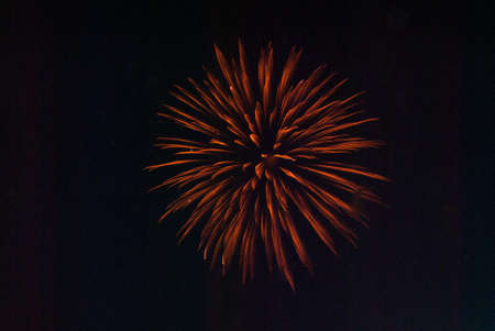 red firework burst