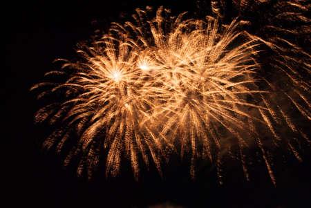 Orange firework burst