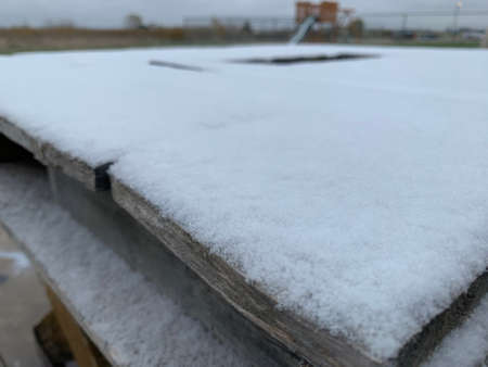 snow covered table