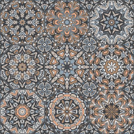 Niet-triviale felle kleur abstracte geometrische patroon, vector naadloos, kan worden gebruikt voor het afdrukken op stof, interieur, design, textiel, covers, achtergrond, papier, tegel, handdoek, tapijt, grens