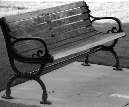 Southlake Town Square Black & White Bench