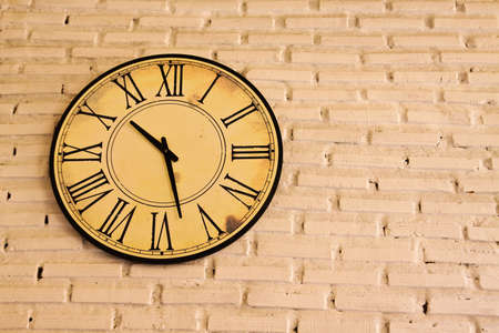 Clock on the wall 版權商用圖片