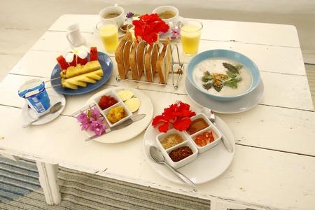 Mix breakfast Stock Photo