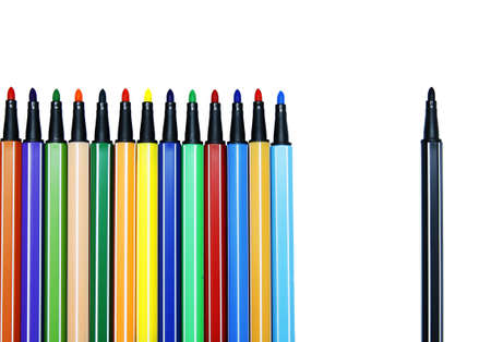 Color pen set : Alone  Stock Photo