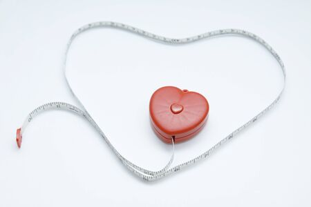 Red Heart and tape measure for lover