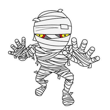 Halloween Mummy comic with bandage. photo