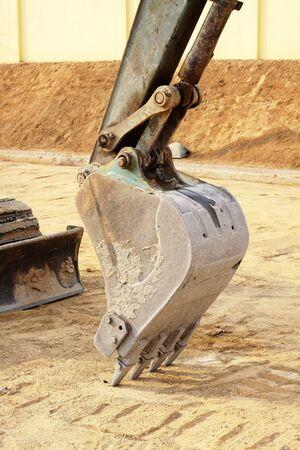 Truck Backhoe construction scoop stop work