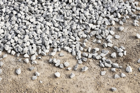 Pile Crushed stone for construction the building