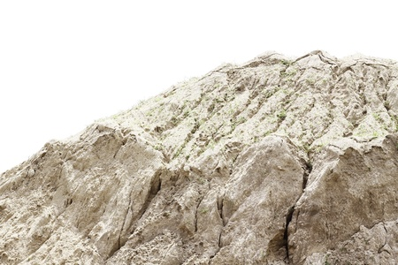 Sand pile at construction site on white background Stock Photo