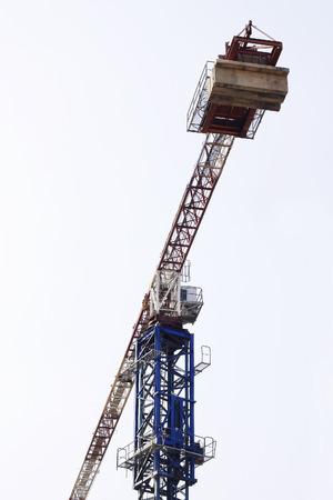 Tower crane working