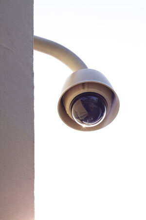 dome type: Hi-tech dome type camera on a wall