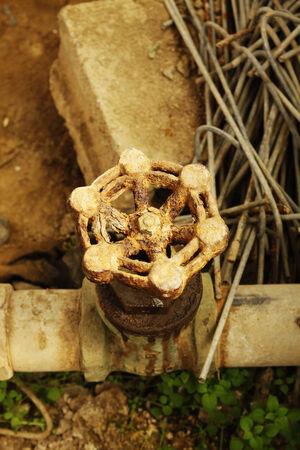 photo of Rusty iron valve