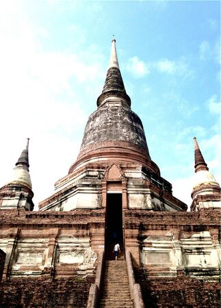 Old temple of Ayutthaya,Thailand