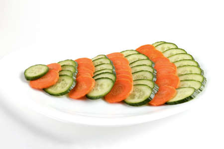 cucumbers and carrot