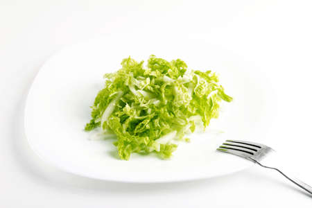 Cabbage on the plate Stock Photo