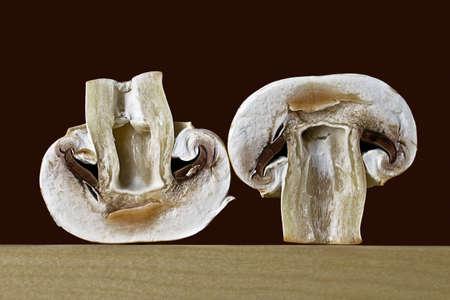 Champignons in a cut